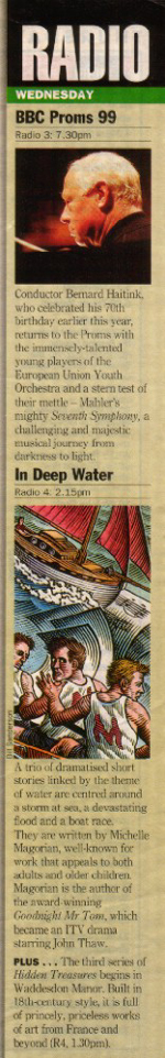 'In Deep Water' in the Radio Times