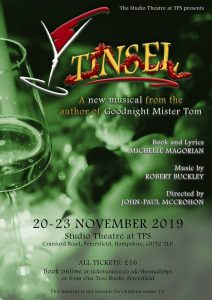 Flyer for Tinsel the Musical 2019