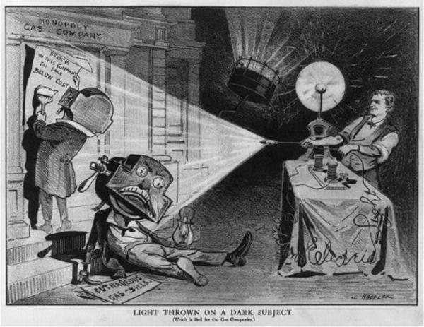 Light Thrown On A Dark Subject Cartoon